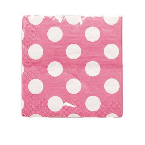 Unique Napkins Dots Pink Large 16 Pack