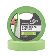 Pomona Professional Painters Crepe Rubber Masking Tape Green 36mm x 50m
