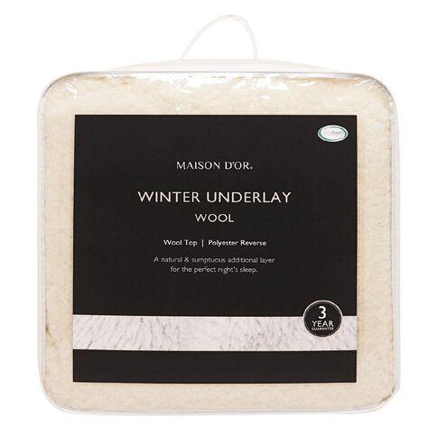 Maison d'Or Underlay Winter  Wool 91cm x 193cm Single