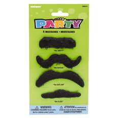 Unique Party Favours Moustaches 4 Pack