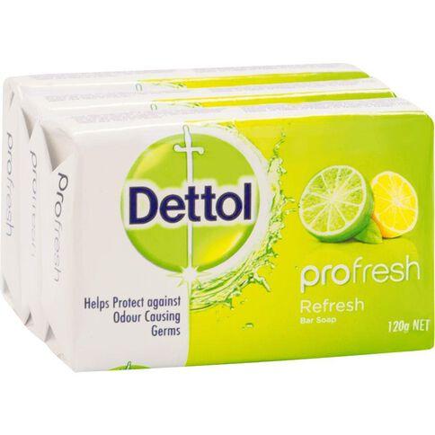 Dettol Bar Soap Refresh 3 Pack