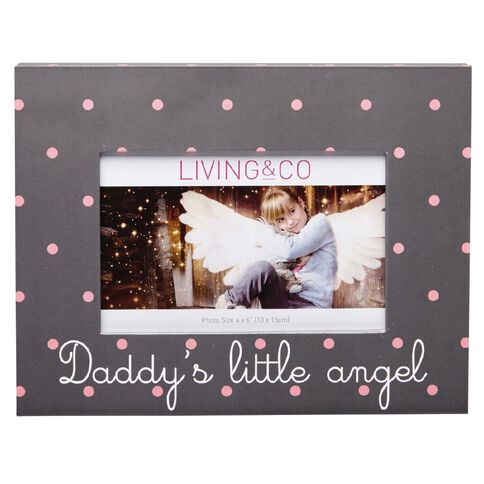 Living & Co Dahlia Photo Frame Dad's Little Angel 4in x 6in