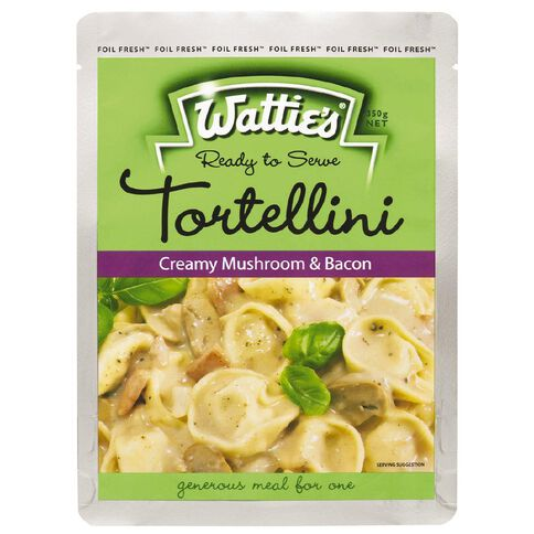 Wattie's Tortellini Meal Chunky Mushroom and Bacon 350g