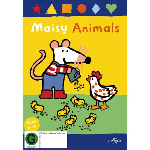 Maisy Animals Vol 3 Yellow Handle Packaging DVD 1Disc