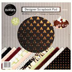 Rosie's Studio Cinnamon Paper Pad 12in x 12in 42 Sheet