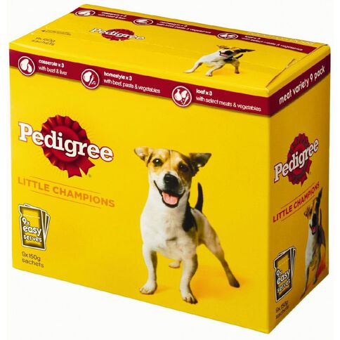 Pedigree Pouches Variety Meat 9 Pack