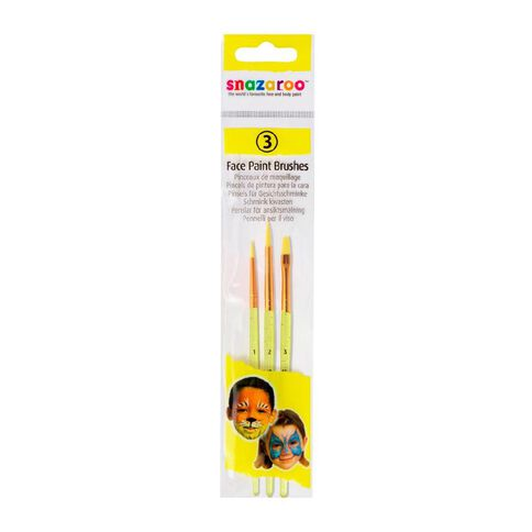 Snazaroo Snazaroo Face Painting Brush Set 3 Pack