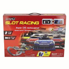 Slot Car Speed Car Set Battery Operated 1:64