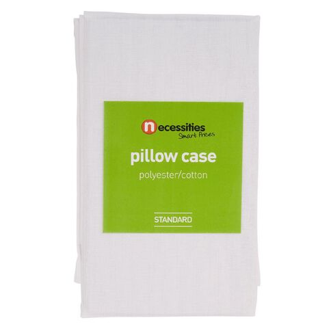 Necessities Brand Pillowcase White