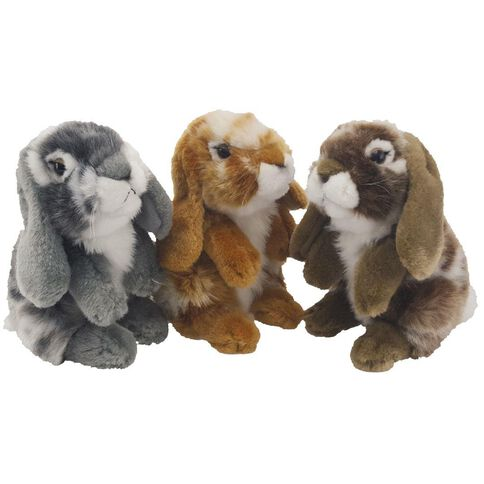Nibbles Brown/Grey Rabbits 18cm Assorted