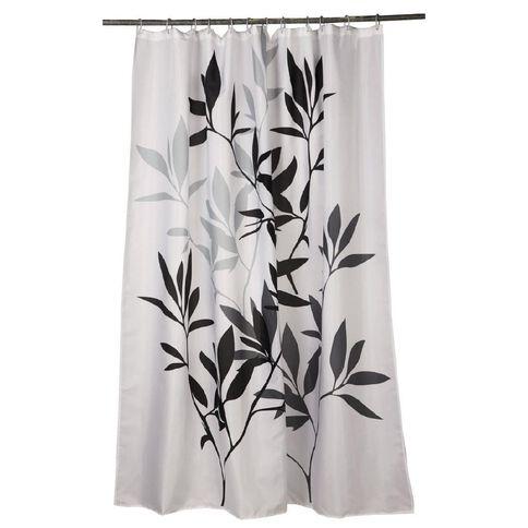 Living & Co Shower Curtain Leaf 180cm x 180cm