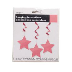 Unique Hanging Star Swirls Pink 3 Pack