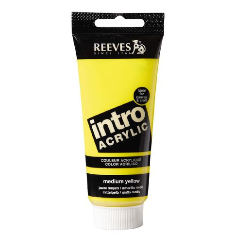 Reeves Intro Acrylic Medium Yellow 100ml