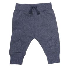 Hippo + Friends Baby Boy Patch Plain Trackpants