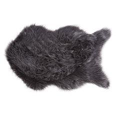 Living & Co Rug Faux Sheepskin Charcoal 60cm x 100cm