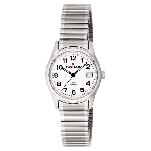 Switza Ladies' Stainless Steel Classic Watch with Figure Dial