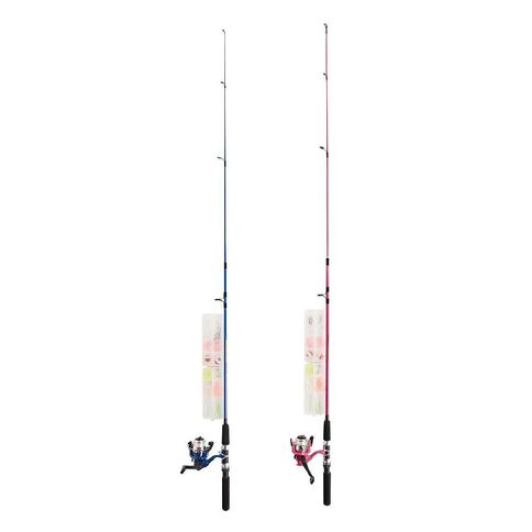 Maxistrike Kids' Combo 5ft 2 Piece Rod with Tackle Kit Blue or Pink