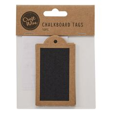 Craftwise Chalkboard Tag Rectangle 10 Piece