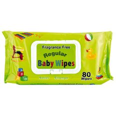 Regular Baby Wipes Fragrance Free 80s