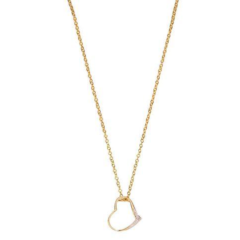 9ct Gold Diamond Heart Pendant