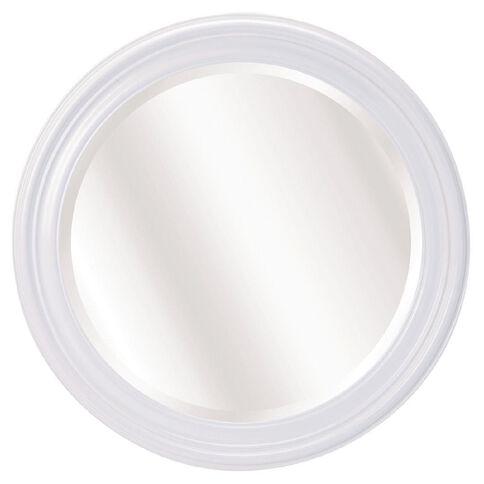 Design House Mirror Concord Round White 60cm x 60cm