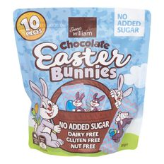 Sweet William No Added Sugar Easter Bunny 130g 10 Pack