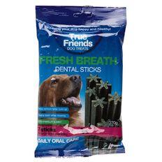 True Friends Dog Treats Fresh Breath Dental Sticks for Large Dogs