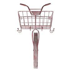 Wall Metal Bicycle Pink