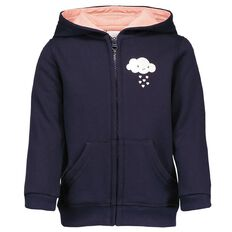 Hippo + Friends Toddler Girl Placement Print Sweatshirt