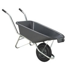 Westminster Plastic Pourer Wheelbarrow Black 90L