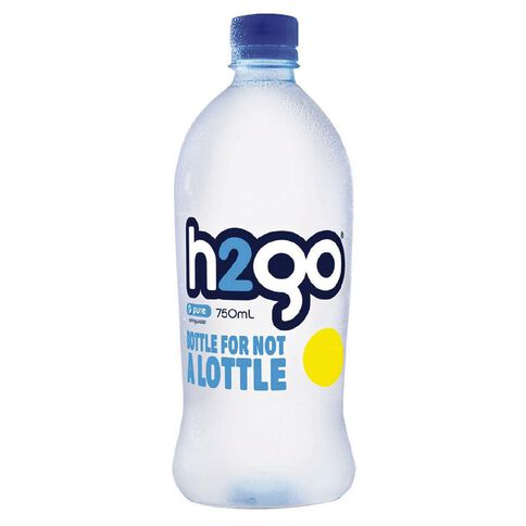 H2go Pure Flat Cap 750ml