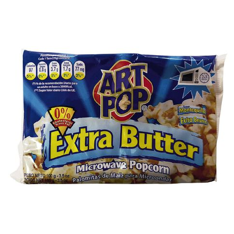 Art Pop Microwave Extra Butter Popcorn with 0% Cholesterol 100g