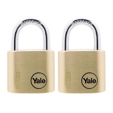 Yale 110 Series Padlock Brass 30mm Twin Pack