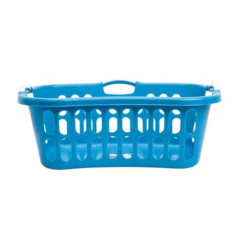 Taurus Hip Hugger Laundry Basket with Handles 44L Teal