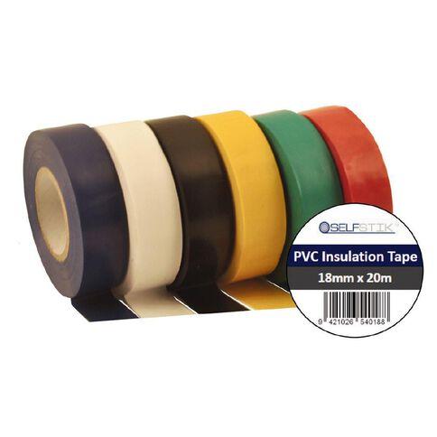 Pomona PVC Electrical Insulation Tape Black 20m x 18mm