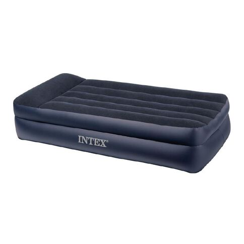 Intex Airbed Rising Comfort with Built in 230v Pump Twin