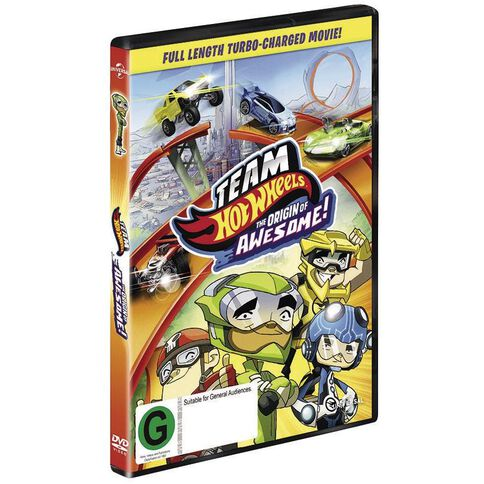 Team Hot Wheels Origins of Awesome DVD 1Disc