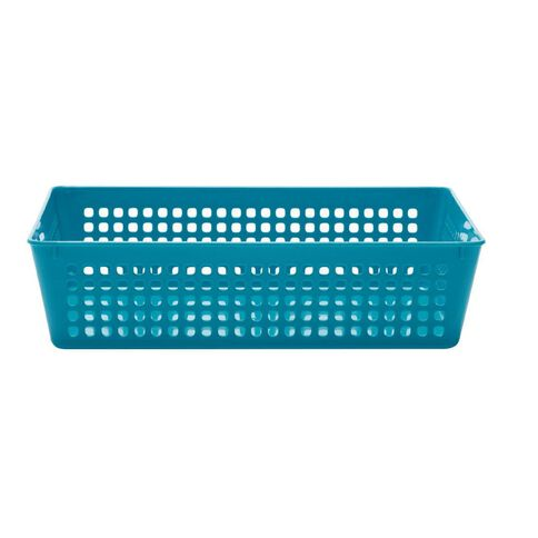 Taurus Plastic Basket Tray Teal Medium
