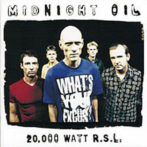 20000 Watt R.S.L CD by Midnight Oil 1Disc
