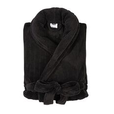 H&H Men's Drop Needle Coral Fleece Robe