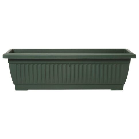 Baba Large Plastic Planter Trough Green 92cm x 34cm