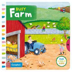 Busy Farm Board Book by Rebecca Finn