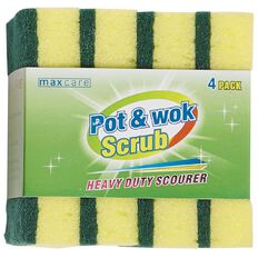 Maxcare Pot and Wok Scrub 4 Pack