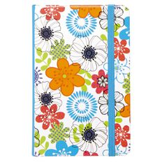 Paper Scissors Rock Floral Notebook A6 100 Sheets Assorted Colours