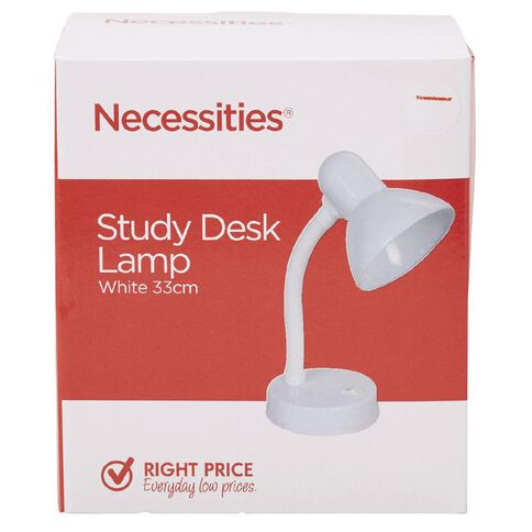 Necessities Brand Study Desk Lamp White 33cm