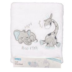 Rocco And Tolly Starry Dreams Coral Fleece Cot Blanket