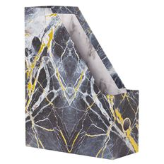 Stylo Marble Magazine File with Gold Foil