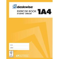 Deskwise Exercise Book Unruled 1A4