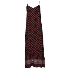 Maya Printed Hem Maxi Dress