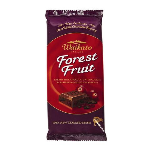 Waikato Valley Chocolates Forest Fruit Tab 200g